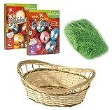 Heitmann Eierfarben 30055 - Bastelset Ostern 4 teilig, Inklusive Eierfarben Goldrausch und Glitzer Ei für ca. 30 Eier