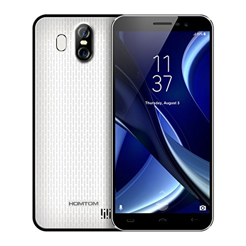 HOMTOM S16 - 5,5 Zoll 3G Smartphone, Infinity Display, Android 7.0 Quad Core 2GB+16GB, Hauptkamera 13MP+2MP, Frontkamera 8.0MP, Dual Karte Dual Standby, SIM-frei Entsperrt Handy, Weiß (Entsperrt Galaxy Note Handys)