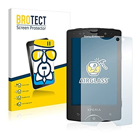 BROTECT AirGlass Protection Verre Flexible pour Sony Ericsson Xperia Mini Pro SK17i Film Vitre Protection Ecran Transparence - Extra Résistant, Ultra-Léger,