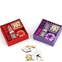 Ghasitaram Gifts Set of 2 Incense Sets with 400 gms kaju Katli