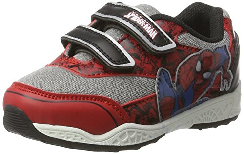 Spiderman Jungen SP003530 Low-Top, Grau (Red/E.L.Grey/Black 667), 28 EU (Spider-man-klettverschluss)