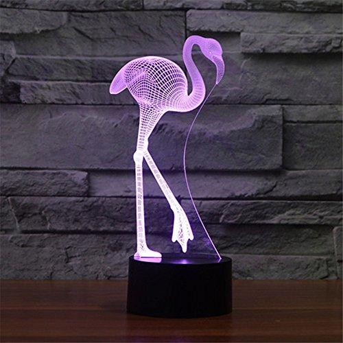 Flamingo 3D-Nacht Licht Lampe Abajur LED 7 Farbe ändern Neuheit Tippen Sie auf USB-Batteriebetrieb Tischleuchte Baby LED-Licht Home Decor - Obst Home Decor