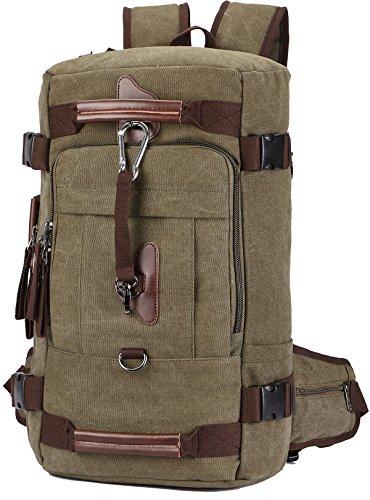 """Canvas Rucksack, Aidonger Vintage Schulrucksack Reise Rucksack 15\"""" Laptop Rucksack Daypacks (Armee Grün-58)"""