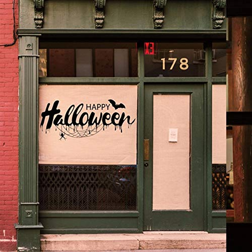 Qwerlp Diy Pvc Wandaufkleber Happy Halloween Zitat Dekoration Wandtattoos Vintage Post Abnehmbare Aufkleber Möbel Aufkleber Dekorationen (Halloween Post Happy)