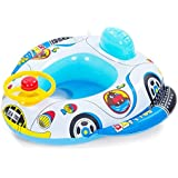 Vococal - Barco Flotador de Piscina Inflable Nadar Anillo asiento para Niños Niñas Bebés,Estilo de Cuerno de Rueda de Coche