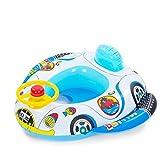 Vococal - Piscina Gonfiabile Nuotare Anello Sedile / Barca Galleggiante per Bambini Bambine Neonati,Stile di Corno Ruota Auto