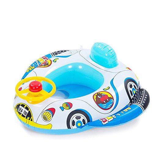 Vococal - Barco Flotador de Piscina Inflable Nadar Anillo asiento para Niños Niñas Bebés,Estilo de Cuerno de Rueda de