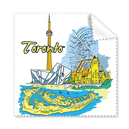 Kanada Geschmack Toronto Landschaft und Landmark Watercolor Muster Brille Reinigungstuch Reinigungstuch Handy-Display von 5x