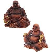 Mini effetto legno Lucky Buddha Collectable Congratulations, Good Luck wedding, Gift, idea occasion, Gift, idea