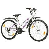 Multibrand, Probike Adventure, 24 Zoll, 290mm, Mountainbike, 18 Gang, Schutzblech-Set Für Damen Kinder Junioren, Weiß