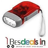Prakaash Hand Pressing LED Flashlight Torch-For Multi-use Hand-pressing Torchlight - (Multi-color)