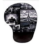 BADALink Retro Mousepad Handgelenkschutz Schöne Persönlichkeit Farbe Silikon-Pads Mousepads Gaming Mauspad or Fast and Accurate Control mit Paris Design