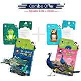 Aquatic Life + Birds | Age 3-10 Years | Complete Activity Kit For Boys & Girls | Augmented And Virtual Reality Based Mind Development Games | Combo Kit Of 2