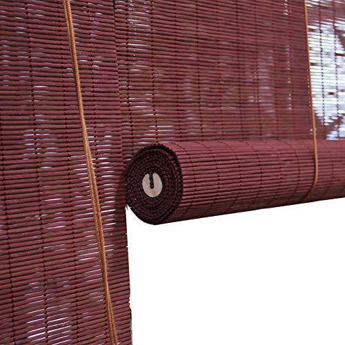 GDMING-Bambusrollo Fenster Sichtschutz Rollos Sonnencreme Römische Schatten Staubdicht Fensterrollos Atmungsaktiv Garten Pavillon Dekoration (Jalousie-schnur Sicherheit)