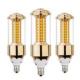 AHEVO E14 LED Lampe, 85-265 V, 15 W, Tageslicht Weiß, 3 Stück, entspricht 100-120-Watt-Glühbirnen, E14-Fassung, 1500 Lumen LED-Lichter, nicht dimmbar (GJZT, 6000 K), weiß, E14, 15.00W 230.00V