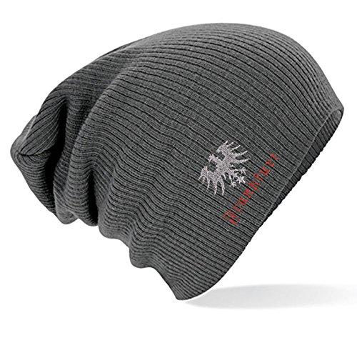 Slouch-Beanie Longbeanie Mütze mit Einstickung - Frankfurt - versch. Farben 54403...