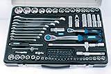 Mannesmann - M29770 - Juego de llaves de vaso 1/4'+1/2', 82 piezas