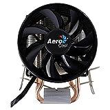 Aerocool VERKHO 2 - Disipador Gaming para Ordenador (Ventilador 9 mm, HCTT, Aletas de Aluminio, tecnología PWM 4-Pin, 2 heatpipes), Color Negro