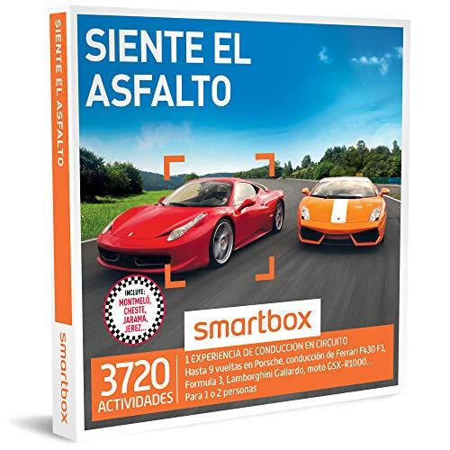 SMARTBOX - Caja Regalo - SIENTE EL ASFALTO - 3720 actividades de conducción con Ferrari F430 F1, Porsche, Lamborghini, Formula 3 o curso de drift