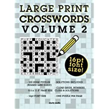 Large Print Crosswords Volume 2 by Clarity Media (2015-09-24)