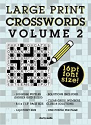 Large Print Crosswords Volume 2 by Clarity Media (2015-09-24)