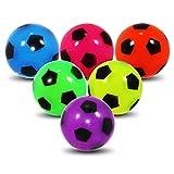 3 x Leuchtflummi Flummi Sportball Fussball 5,5 cm