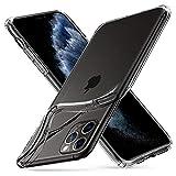 Spigen Coque iPhone 11 Pro Max [Liquid Crystal] Souple, Mince, Légère, Ajustement Parfait, Protection aux 4 Coins - [Air Cushion] Coque Compatible avec iPhone Pro Max (2019) - Crystal Clear