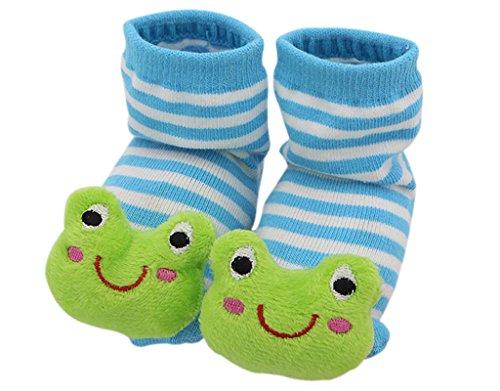 BONAMART ® 3D Anti Rutsch Babysöckchen Stricken Socken Baby Laufsocken Babysocken kindersocken Junge Mädchen Karikatur Schuhe Baumwolle 0-12 Monate (Kinder Schuhe Großhandel)