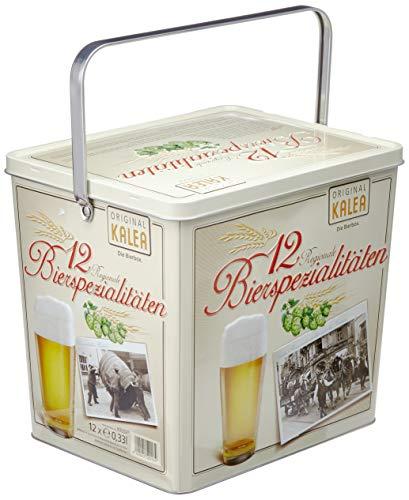 """Kalea Spezialitäten """"Bier Box"""" ausgewählte Biere verpackt in einer hochwertigen Metallbox (12 x 0,33 l)"""
