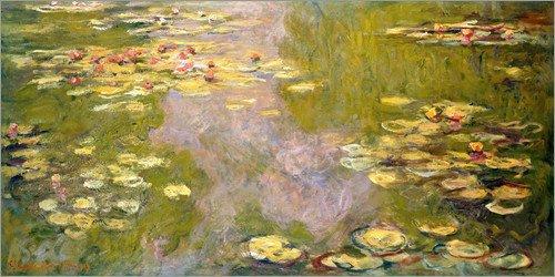 Posterlounge Leinwandbild 120 x 60 cm: Der Seerosenteich von Claude Monet - fertiges Wandbild, Bild auf Keilrahmen, Fertigbild auf echter Leinwand, Leinwanddruck -