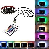 Rokoo 5050USB Mood Light RGB Multi Color LED Lichtleiste TV Hintergrundbeleuchtung 24Schlüssel-Fernbedienung, 3 m