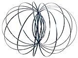 Alsino Magic Ring Spirale Edelstahl Ringe Spielzeug Kinetic Magic Flow Ringe 3D-Flow-Ring, Variante Wählen:MR-100 Blau