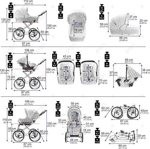 Friedrich Hugo Modell Nature Line Uni Nostalgie Kombikinderwagen - 8