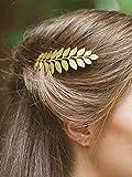 Peignes à cheveux de mariée Handcess, Mariage, Feuille, Peigne à cheveux Pinces pour mariée et demoiselle d'honneur (Doré)