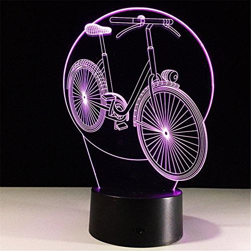 Das Radfahren Der Lichter 3D Buntes Fernsteuerungs-Touch Führte Lichter Stall Neues Exotisches Produktnachtlicht