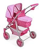 Bayer Chic 2000 591 31 - Kombi-Puppenwagen Speedy 2 in 1, Dots Pink