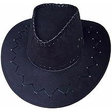 WDBS Sombreros de caballeros occidentales sombrero de vaquero para hombres y mujeres sombrero de cowboy de piel de pollo viseras ocio de verano de ocio Cap , deep coffee