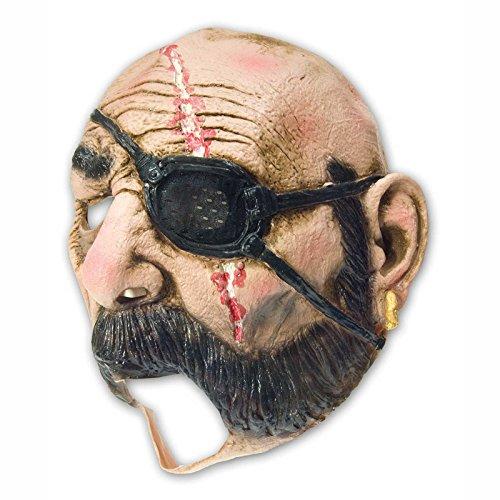 (Horror Pirat Vollmaske Gummi Maske Freibeuter Kapitän Fasching Halloween Latex)