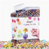 Acqua perline Orbeez, Zonyanl Gel colorato perline acqua Gelatina di perle d'acqua Cristalli di suolo aqua per giocattoli sensoriali per bambini, pediluvio, furgoni, decorazione di piante (42.000 pezzi)