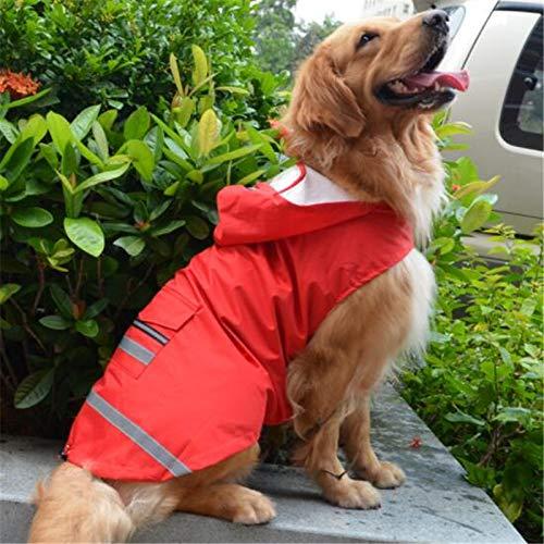 Kostüm Labrador - SHAOGEB Hunderegenmantel Reflektierende Große Hund Regenmantel Wasserdicht Regen Mantel Jacke Kleidung Kapuzen Für Großen Hund Golden Retriever Labrador Kostüm Rainwear Rot 5XL