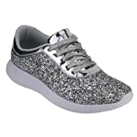 Nature Breeze Womens Sneakers Silver Size: 7 B(M) US