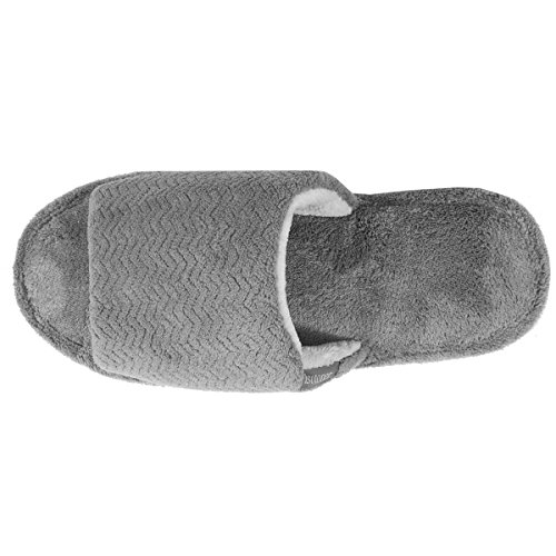 Isotoner Chaussons sandales plates homme Homme Gris