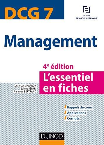 DCG 7 - Management - 4e éd. - L'essentiel en fiches