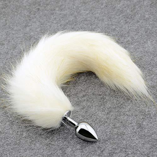 White Fox-Endstück-Metall-Spielzeug, Kunst Schwanz Spielzeug, Petplay Katzen-Endstück Cosplay, Lustige Produkte, Spielwaren Für Frau