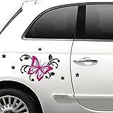 Grandora X7131 Auto Aufkleber 2-farbig Schmetterling pink