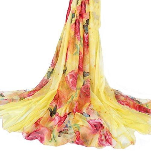 serviette de plage Écharpe en mousseline de soie en mousseline de soie Écharpe solaire Écharpe sauvage à double usage ( Couleur : #13 ) #11