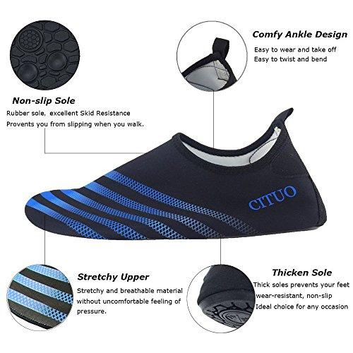 Chaussures De Plongée Pantoufles Plage Pantoufles Plage Yoga Danse Élastique Respirant Matériel Super Glisse Super Léger Unisexe Chaussures Garçons Femmes Hommes Bleu Bande