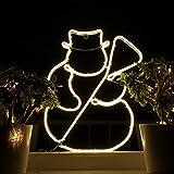 Weihnachtsdeko Fenster LED Schneemann Fensterbilder Weihnachten Beleuchtet Fensterdeko Hängend Fensterdekoration mit Licht Fensterbeleuchtung (WW1)