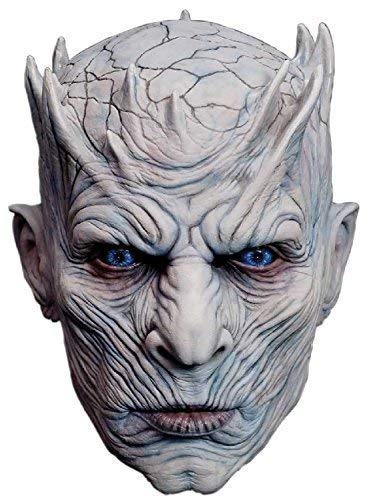 Fancy Me Erwachsene Deluxe Game of Thrones Nacht König Weiß Walker Winter is Coming Halloween Horror Tv Buch Film Cosplay Konvention Profi-Qualität Theater Kostüm Kleid Outfit Maske