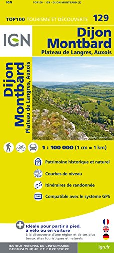 Top100129 Dijon/Montbard 1/100.000